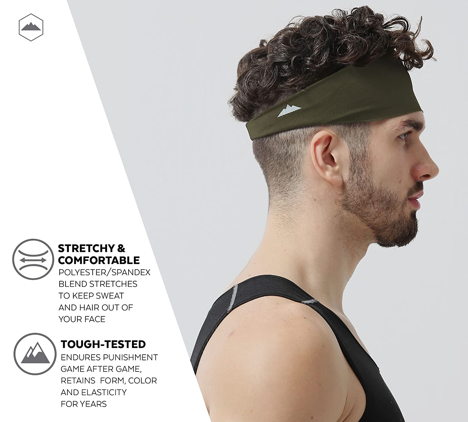 Mens Headband Dominating Competition Performance Image 3