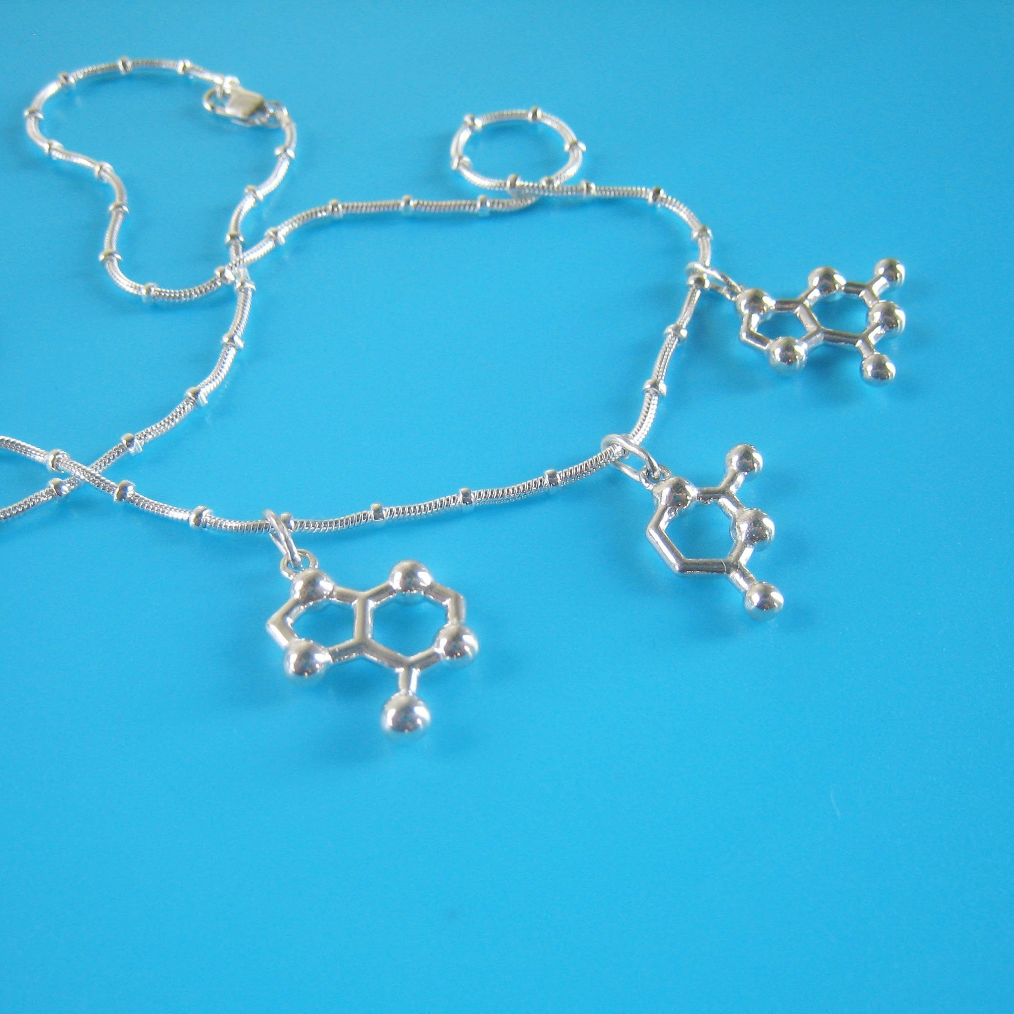 AUG Start Codon DNA Necklace in sterling silver