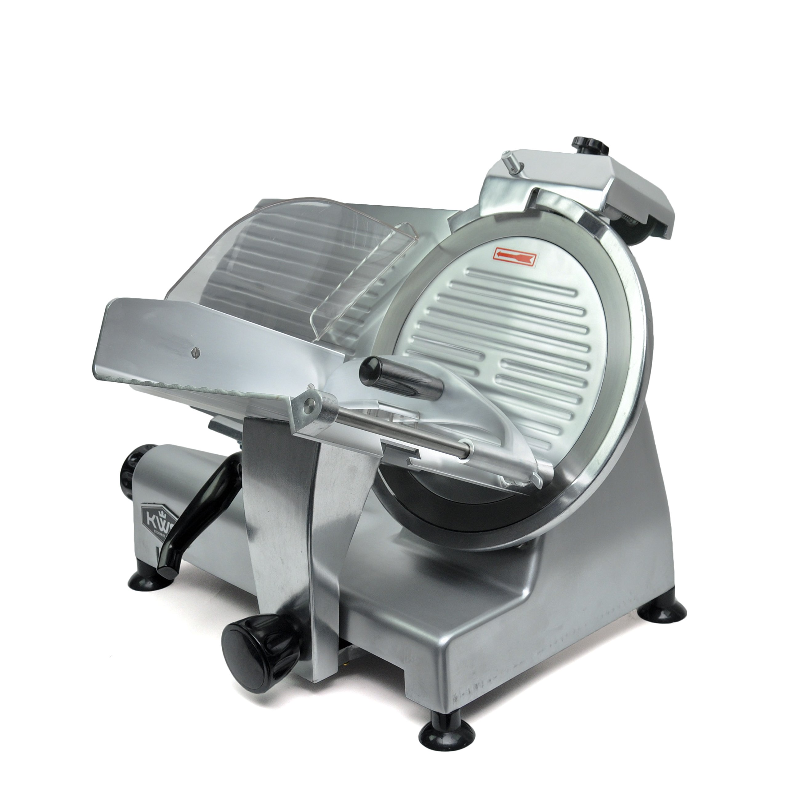 KWS Commercial 420w Electric Meat Slicer 12'' Frozen Meat Deli Slicer Coffee Shop/restaurant and Home Use Low Noises (Stainless Steel Blade--Silver)