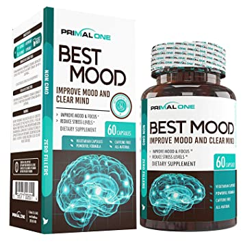 Best Mood Nootropic Mood Booster & Stress Relief Supplement for a Calm  Mind, Clear Focus,