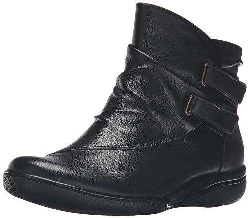 Clarks Women's Kearns Garden Boot, Black Leather, ...