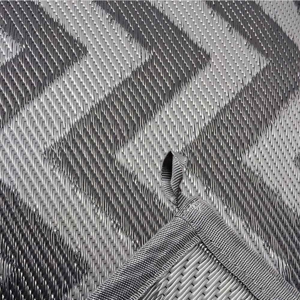 The Caravan Supermarket Moroccan Continental Awning Carpet Wave Pattern Grey 5m