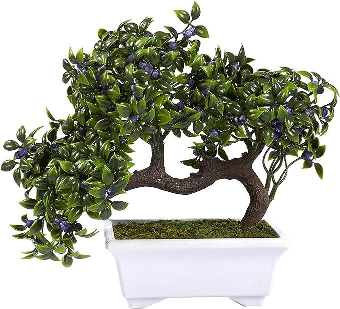 Simulation Potted Bonsai Tree Artificial Plant Desk Ornament Home Decor Sanwood