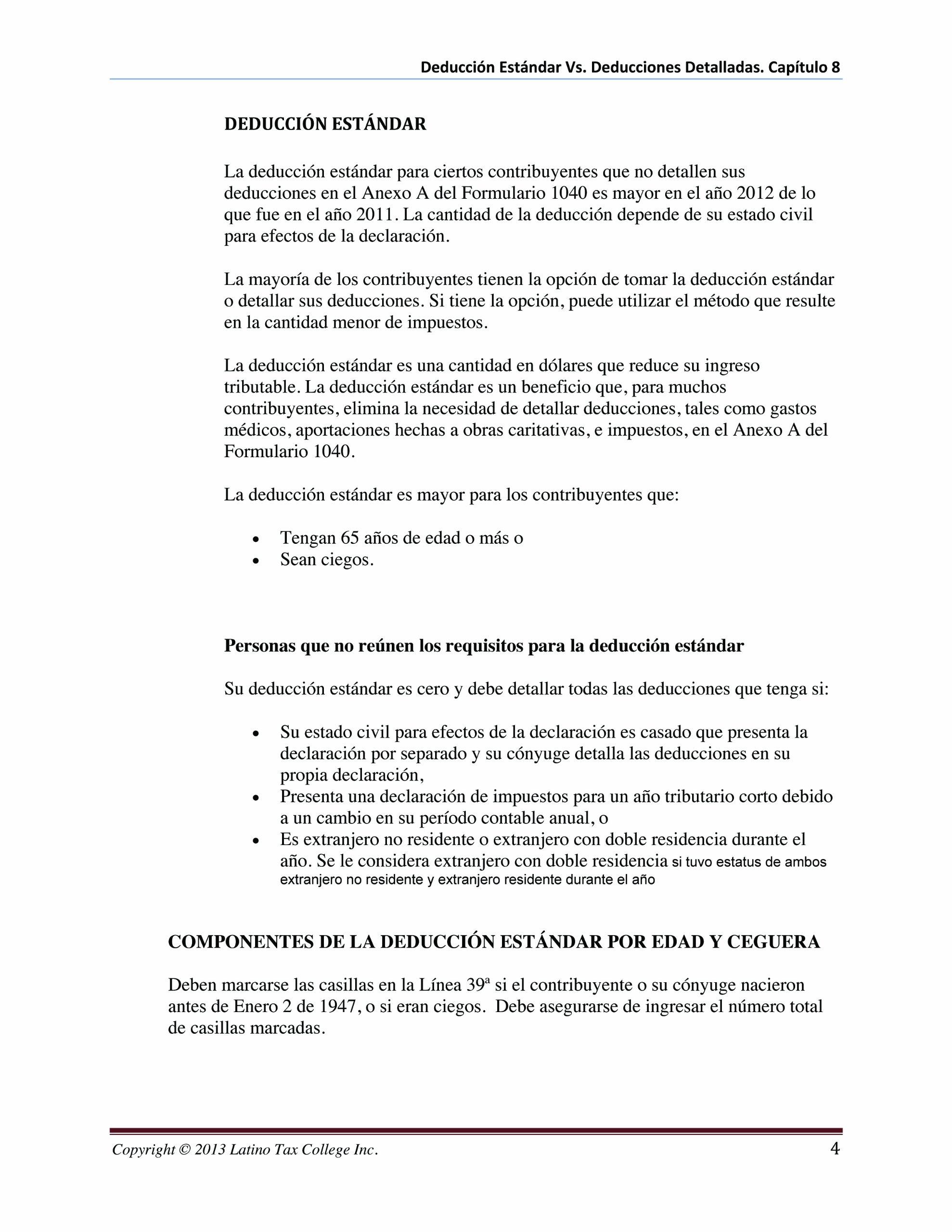Introducción a la Preparación Básica de Impuestos (Introducción a la Preparación Básica de Impuestos Personales en los Estados Unidos): Latino tax College ...
