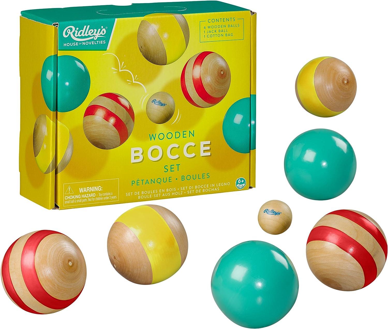 6 balls 1 wooden jack Garden Games Bocce Ball