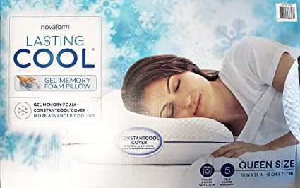b90c8a7678ee2 Image Unavailable. Image not available for. Color  NOVAFORM Lasting Cool  Gel Memory Foam ...