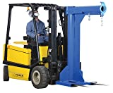 "Vestil LM-HRNT-4-24 Steel Non-Telescoping High Rise Boom, 4000 lb Capacity, 24"" Fork Pocket Center, Overall LxWxH (in.) 32 x 50.375 x 78.5625, Overall Extended Length (in.) 50-3/8, Blue"