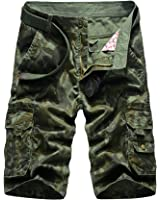 Colorfulworldstore Summer Mens Camouflage Casual Shorts Pants