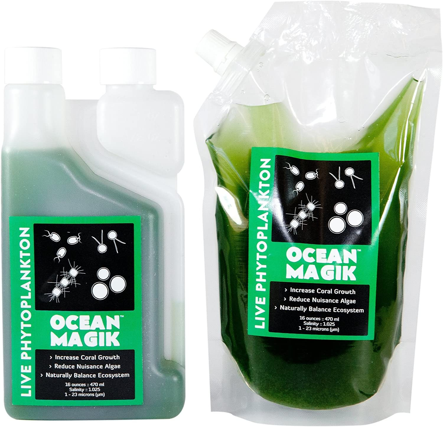 OceanMagik Live Phytoplankton Blend - Tetra x Nanno x Iso x Thal Phyto Coral, Reef, Fish & Copepod Food