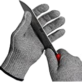 BHSHEN Cut Resistant Gloves for Safety Work Food Grade Level 5 Protection (Medium)