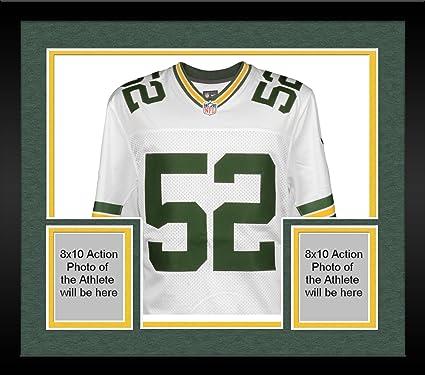 best website c4a20 e5cbd Framed Clay Matthews Green Bay Packers Autographed Nike ...