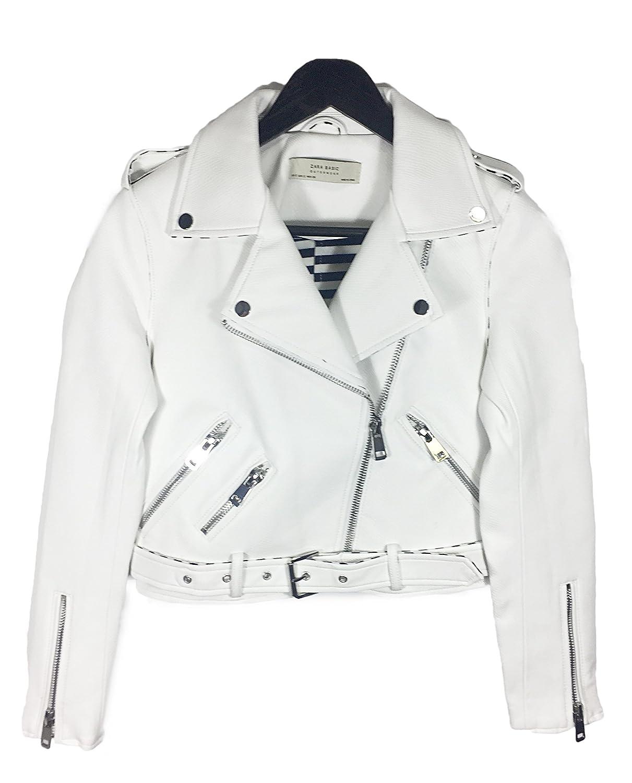 Zara - Chaqueta - para mujer blanco blanco XL: Amazon.es ...