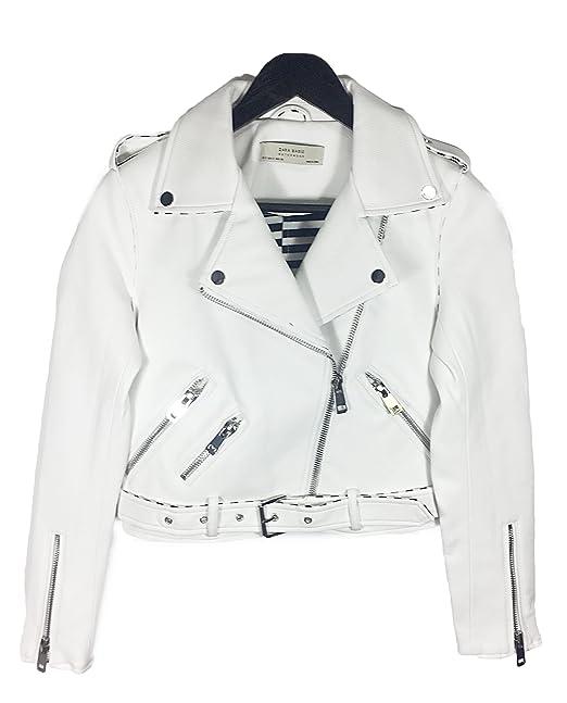 Zara - Chaqueta - para mujer blanco blanco XL: Amazon.es: Ropa y accesorios