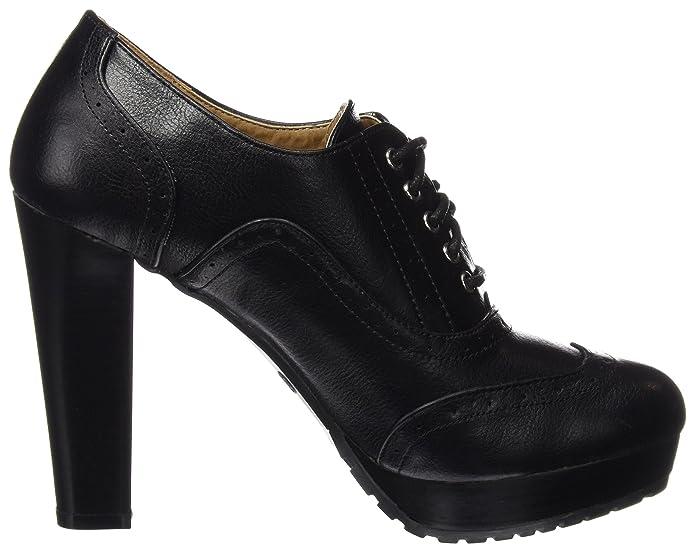 Mariamare Basic Calzado Se?ora, Zapatos de Cordones Oxford para Mujer, Negro (Bombeado Negro), 36 EU