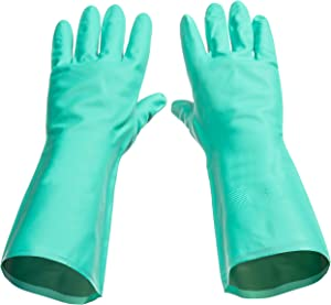 Tusko Products Best Nitrile Rubber Cleaning, Household, Dishwashing Gloves, Latex Free, Vinyl Free, Extra Small XS (Reusable not Disposable)
