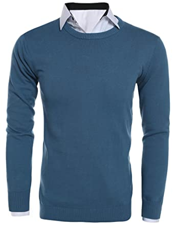FANEO Slim fit Pullover Sweater Men Mens Sweaters and Pullovers Pullovers  at Amazon Men s Clothing store  aa364927d