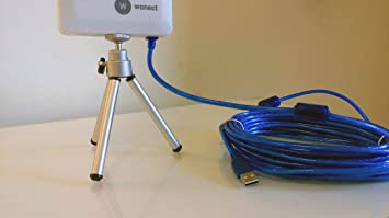 Antena Melon Exterior Wi-Fi Planar N89 con 10 Metros Cable 24dbi. 10m USB WiFi Wireless Compatible auditoria