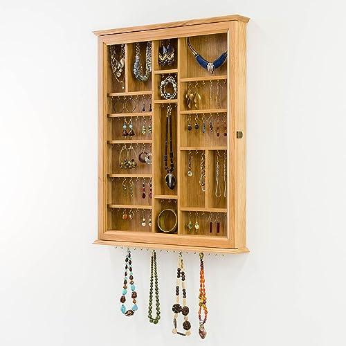 Amazon.com: Custom Jewelry Display Case  Wall Cabinet  *Handmade With  Cherry Hardwood In The USA*: Handmade