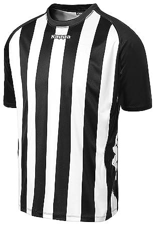 Kappa Barletta SS - Camiseta de equipación para hombre, color blanco/negro, talla