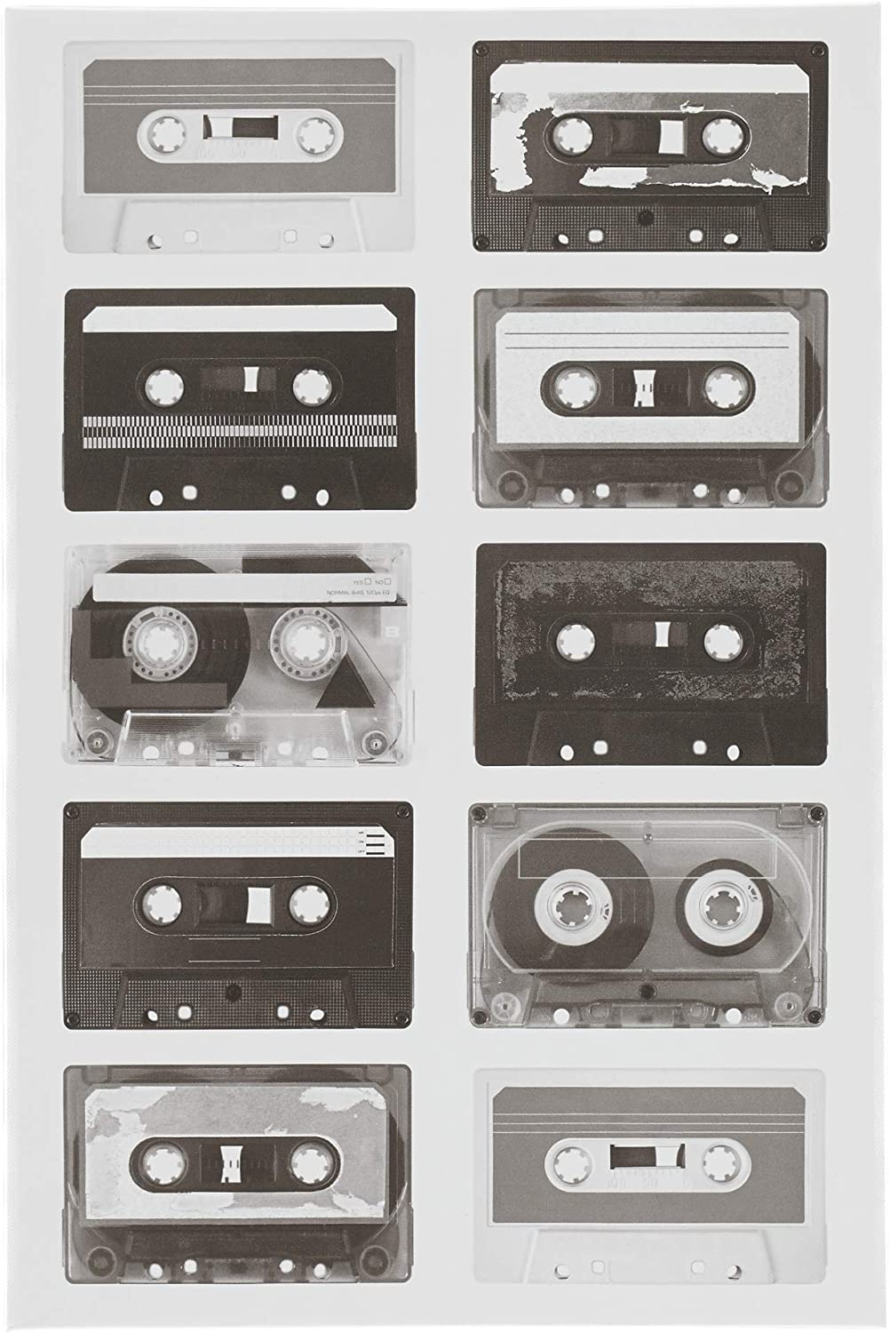 Ashley Furniture Signature Design - Peers Casette Tape Wall Art - Youth - Black/White