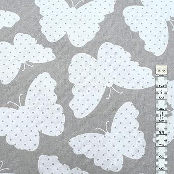 Baumwollstoff uni 100/% Stoffe Stoff Meterware Baumwolle Schmetterling 50 cm