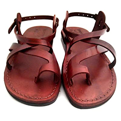 Unisex Genuine Brown Leather Style #006 Jesus Biblical Greek Roman Sandals | Sandals