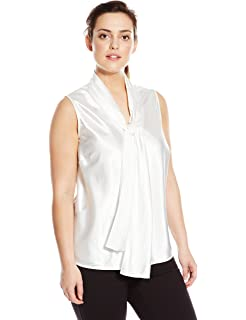 3191398a3f816 Nine West Women s Plus Size Criss Cross Neck Cami at Amazon Women s ...