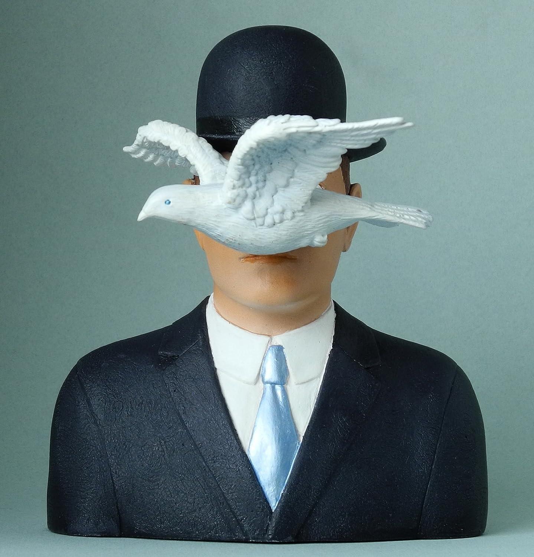 Escultura - L'uomo con bombetta - replica de un motivo de Rene Magritte #04 Parastone Ateliers