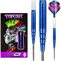 Red Dragon Peter Wright Snakebite Blue PL15 Tungsten Steeltip Darts with Flights and Stems