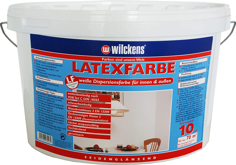 LATEXFARBE 10L SEIDENGLANZ Amazonde Elektronik