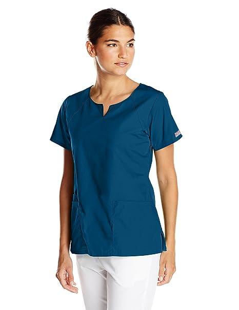 cbb365cef3b Amazon.com  Cherokee Women s Short-Sleeve Scrub Top  Clothing