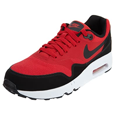 best service c8d41 3c230 Image Unavailable. Image not available for. Color  Nike Men s Air Max 1  Ultra 2.0 Essential, University RED Black White,