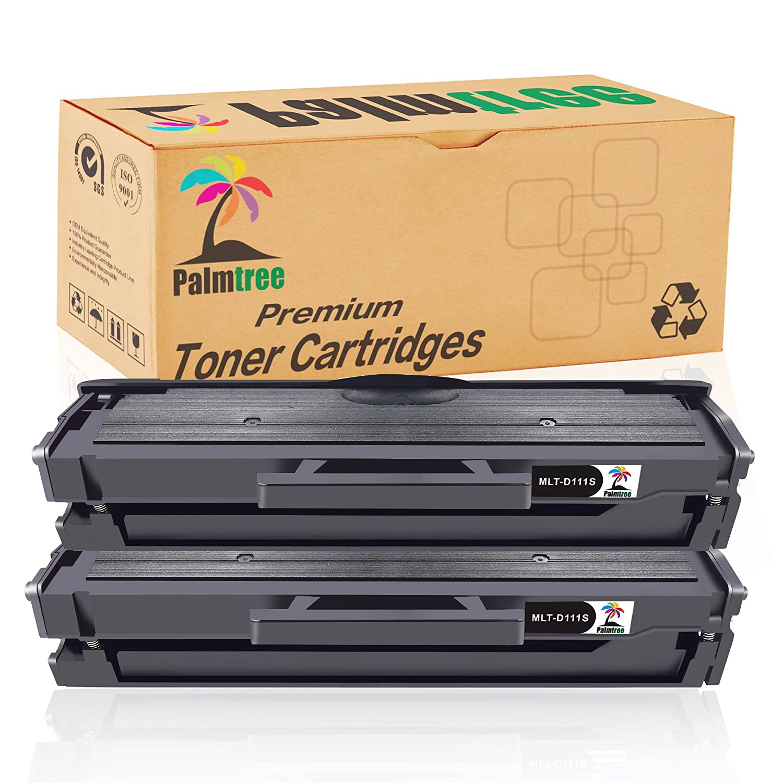 Palmtree Compatibile Samsung MLT-D111S Cartuccia Toner per Samsung MLT-D111 MLT-D111S Toner Cartridge For Samsung Xpress M2026 M2026W M2070 M2070W M2020 M2022W, 2 Nero
