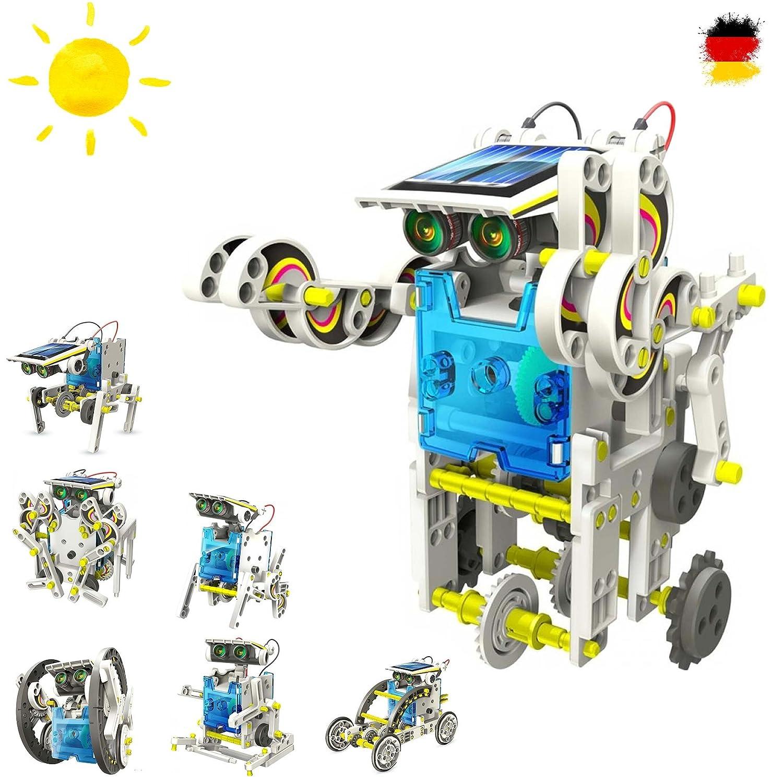 14 in 1 Roboter Konstruktions-Bauset mit Solar, Droide, Baukasten-SetSolar-Kit Elektrisches pädagogisches Konstruktions-Bauset mit Solar Wissenschaft Exprementieren, Antrieb durch Sonnenlicht HSP HIMOTO Solar Kit