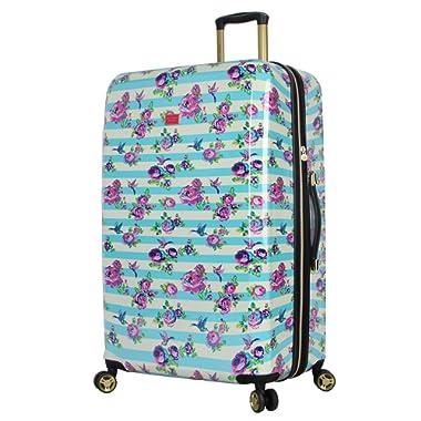BETSEY JOHNSON S. F. Hummingbird 30  Expandable Hardside Checked Spinner Luggage