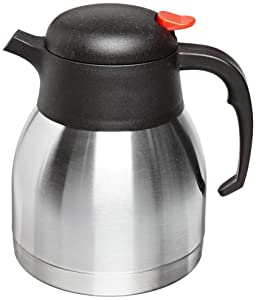 Genuine Joe GJO11955 Stainless Steel Everyday Double Wall Vacuum Insulated Carafe, 1L Capacity