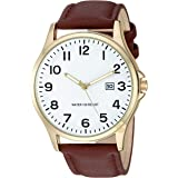 Amazon Essentials Men's Easy to Read Strap Watch