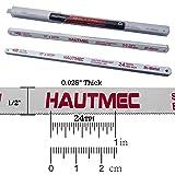 HAUTMEC Hacksaw Replacement Blades BI-METAL