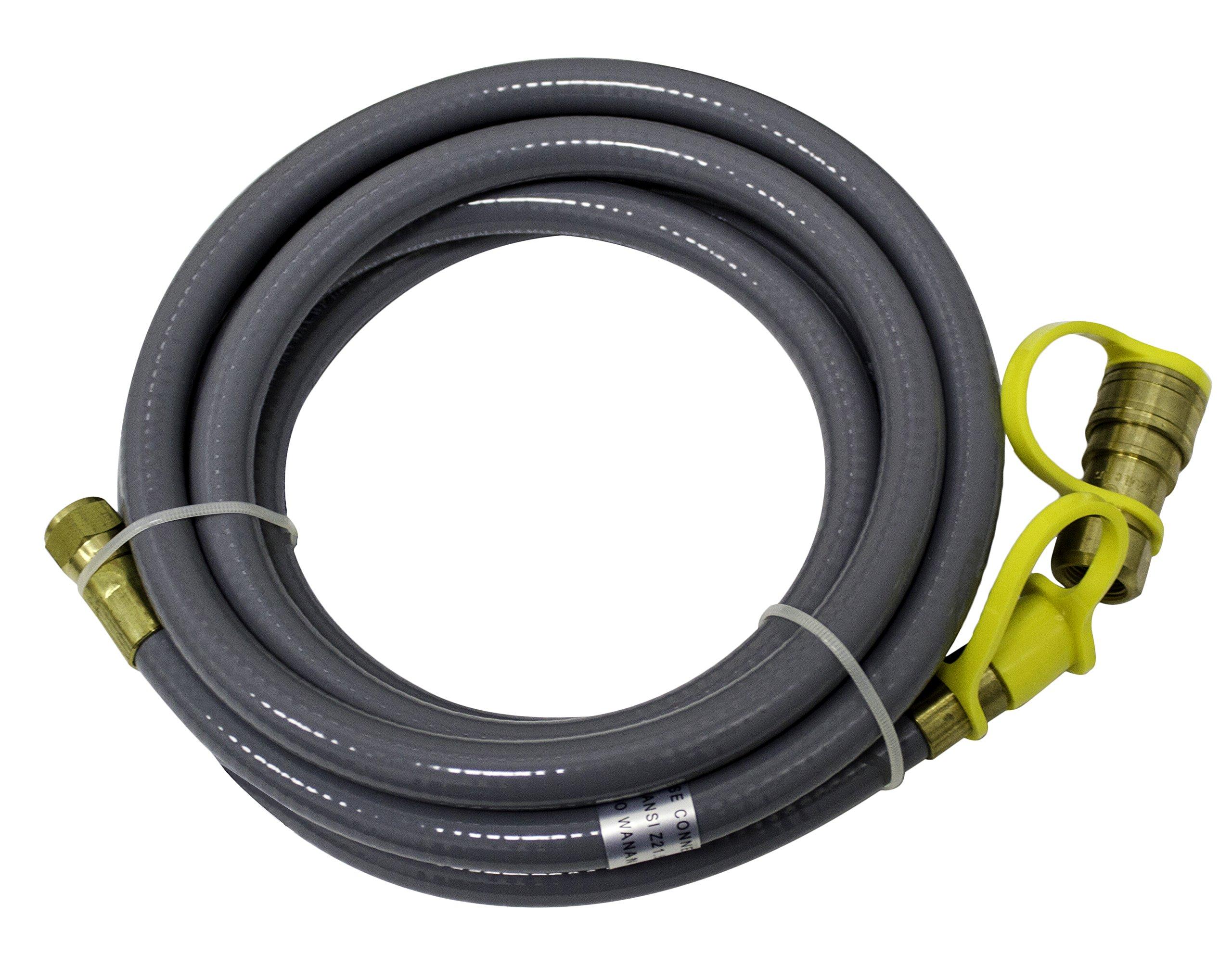 AZ Patio Heaters Natural Gas Hose, Quick Connect, 12 Feet
