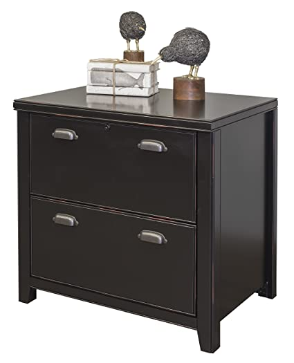 Martin Furniture Tribeca Loft Black 2 Drawer Lateral File Cabinet   Fully  Assembled