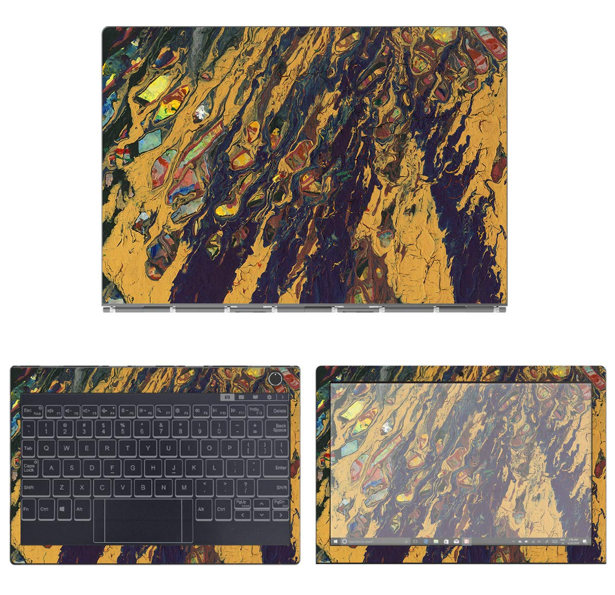 decalrus - Protective Decal Watercolor Skin Sticker for Lenovo Yoga Book C930 (10.8'' Screen) case Cover wrap LEyogaBkC930-231 by decalrus (Image #1)