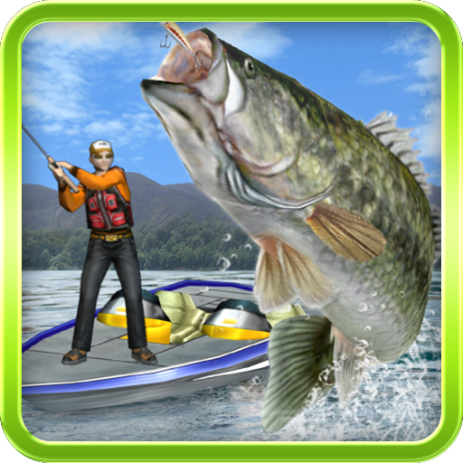 (Bass Fishing 3D on the boat )
