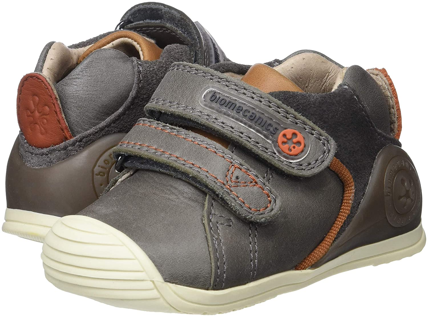 Garvalin Boys Matias First Leather Protective Rip Tape Shoes 7//24 Grey