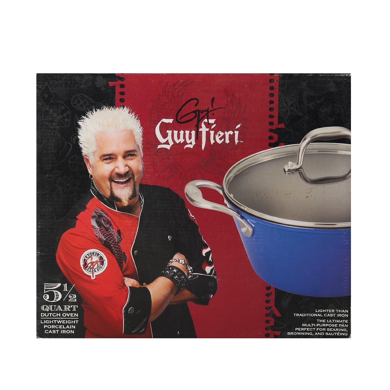 Amazon.de: Guy Fieri Leichtes Gusseisen Dutch Oven (5-1/2-quart, blau)