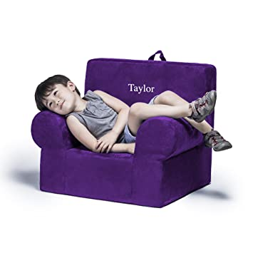 Genial Jaxx Julep Personalized Kids Chair   With Custom Embroidery, Grape