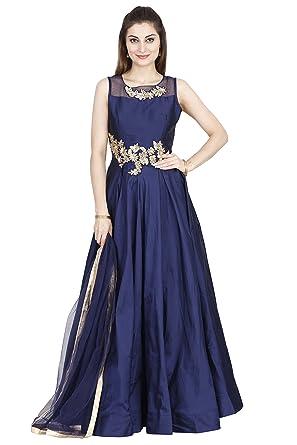 Amazon.com: Salwar Suits for Women (Manmandir Silk Gown Anarkali ...