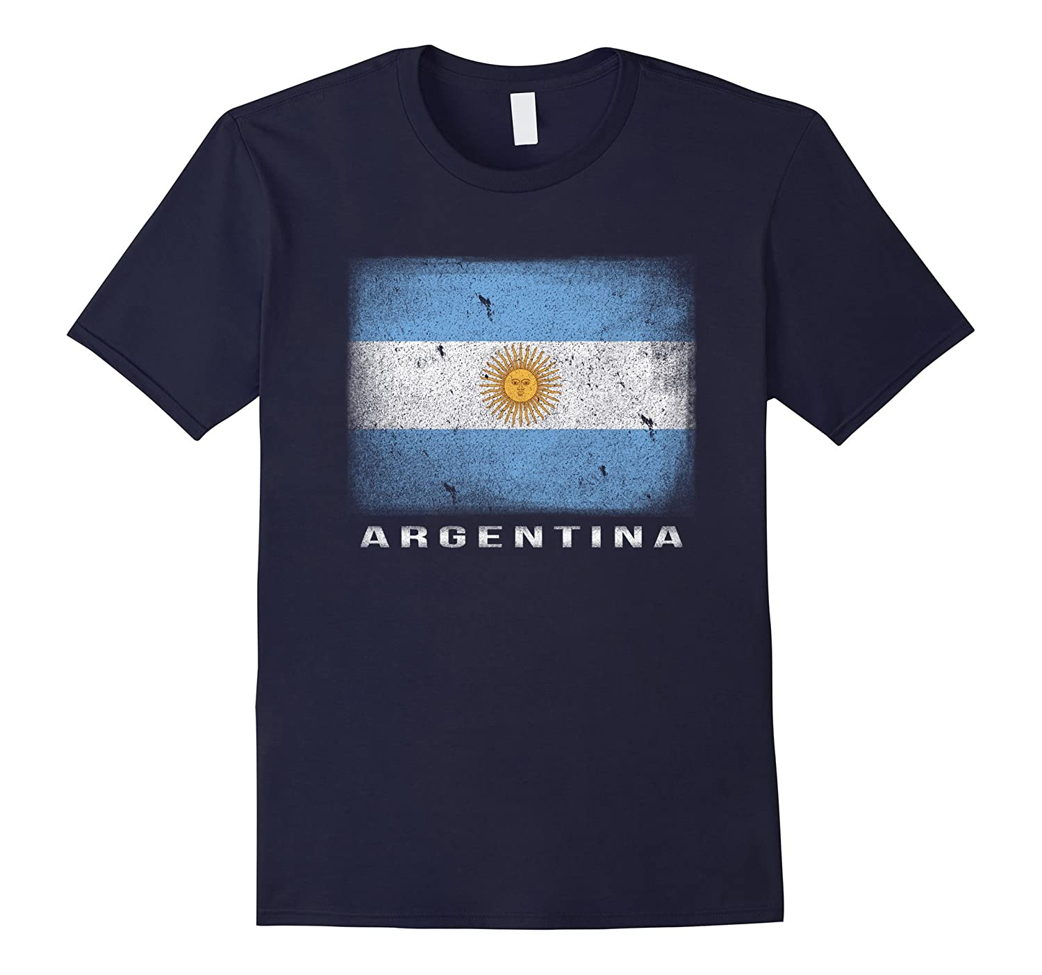 Argentina Flag T-shirt Argentinian Shirt Graphic Tee-Rose