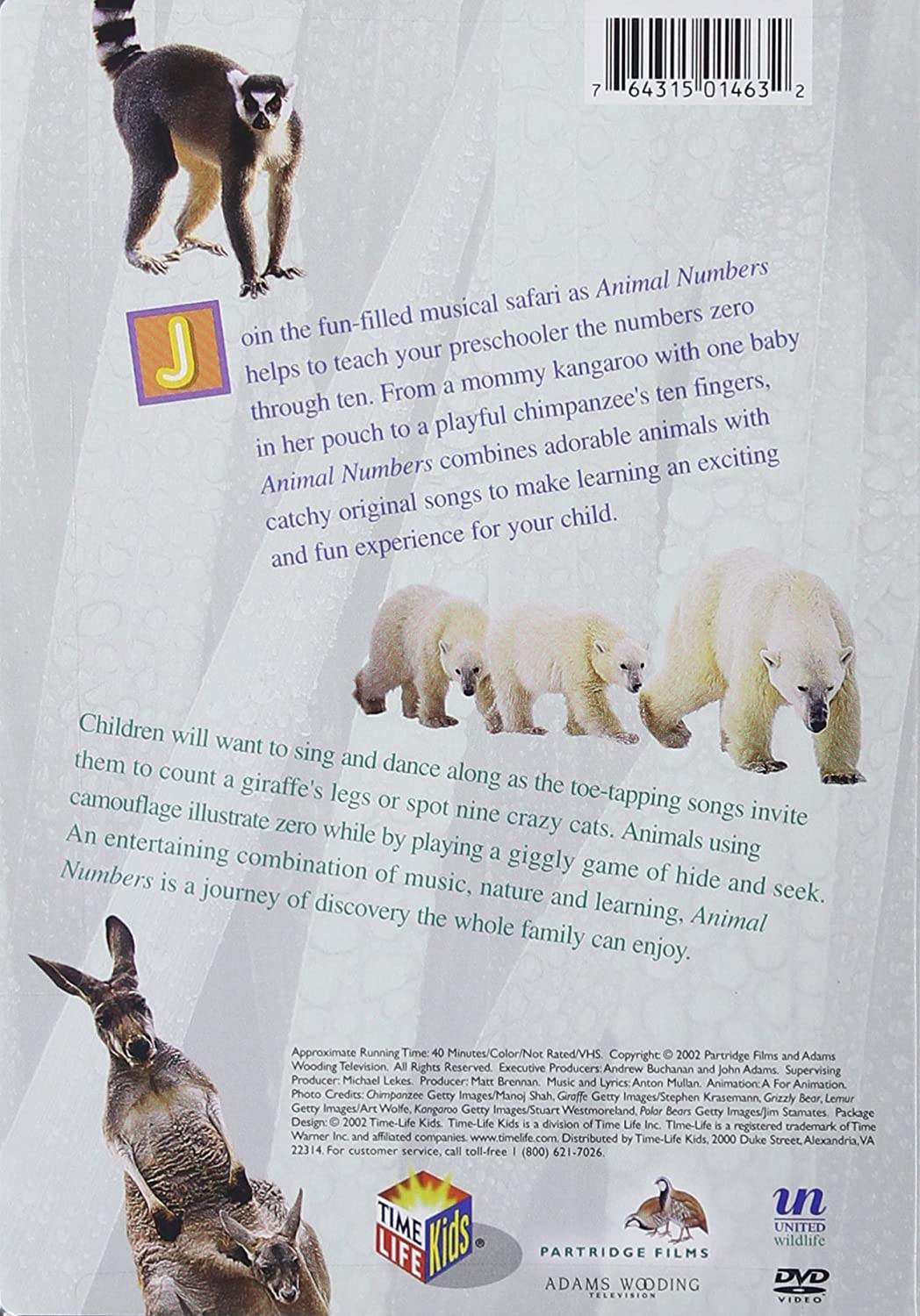 Amazon: Animal Numbers: Learning To Count With Animals: Artist Not  Provided: Movies & Tv