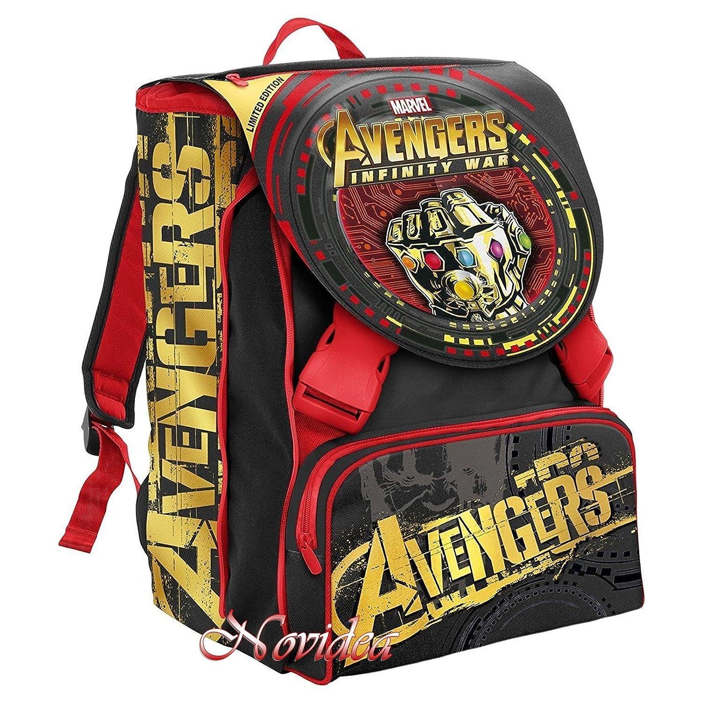 Schulrucksack Avengers Infinity WAR Seven erweiterbar schwarz + ANT Man Figur