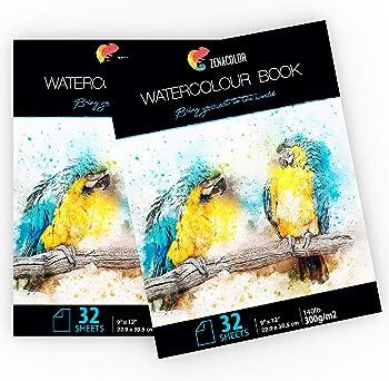 Zenacolor 64 Pages Paper For Watercolor